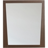 29.5-in. W x 33.5-in. H Modern Plywood-Melamine Wood Mirror In Wenge