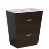 American Imaginations Plywood-Melamine Vanity Set In Wenge