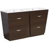 Plywood-Melamine Vanity Set In Wenge