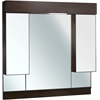 American Imaginations 46-in. W x 46-in. H Transitional Birch Wood-Veneer Wood Mirror In Walnut