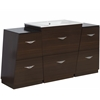 Plywood-Melamine Vanity Set In Wenge