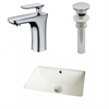 18.25-in. W x 13.5-in. D CUPC Rectangle Undermount Sink Set In Biscuit With Single Hole CUPC Faucet And Drain