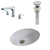 19.5-in. W x 16.25-in. D CUPC Oval Undermount Sink Set In White With 8-in. o.c. CUPC Faucet And Drain