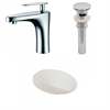 19.25-in. W x 16-in. D CUPC Oval Undermount Sink Set In Biscuit With Single Hole CUPC Faucet And Drain