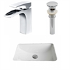 American Imaginations 20.75-in. W x 14.35-in. D CUPC Rectangle Undermount Sink Set In White With Single Hole CUPC Faucet And Drain