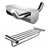 American Imaginations Double Robe Hook With Multi-Rod Towel Rack Accessory Set