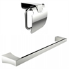 Chrome Plated Toilet Paper Holder With Single Rod Towel Rack Accessory Set