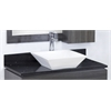 36-in. W x 18.5-in. D Quartz Top In Black Galaxy Color For Single Hole Faucet