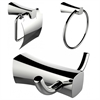 Towel Ring, Toilet Paper Holder And Robe Hook Accessory Set