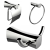 American Imaginations Towel Ring, Toilet Paper Holder And Robe Hook Accessory Set