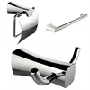 American Imaginations Robe Hook, Toilet Paper Holder And Single Rod Towel Rack Accessory Set