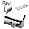 American Imaginations Robe Hook, Toilet Paper Holder And Multi-Rod Towel Rack Accessory Set