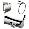 Toilet Paper Holder, Towel Ring And Robe Hook Accessory Set