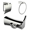 American Imaginations Toilet Paper Holder, Towel Ring And Robe Hook Accessory Set
