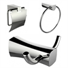 American Imaginations Robe Hook, Toilet Paper Holder And Towel Ring Accessory Set