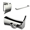 American Imaginations Single Rod Towel Rack, Robe Hook And Toilet Paper Holder Accessory Set