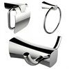 Robe Hook, Toilet Paper Holder And Towel Ring Accessory Set