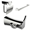 Robe Hook, Single Rod Towel Rack And Toilet Paper Holder Accessory Set
