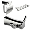 American Imaginations Robe Hook, Multi-Rod Towel Rack And Toilet Paper Holder Accessory Set