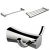 Multi-Rod Towel Rack With Robe Hook And Single Towel Rod Accessory Set