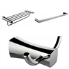 Multi-Rod Towel Rack With Robe Hook And Single Towel Rod Accessory Set