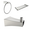 Robe Hook, Multi-Rod Towel Rack And Towel Ring Accessory Set