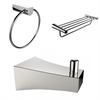 American Imaginations Robe Hook, Multi-Rod Towel Rack And Towel Ring Accessory Set