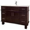 47-in. W x 17-in. D Transitional Birch Wood-Veneer Vanity Base Only In Walnut