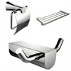 American Imaginations Modern Multi-Rod Towel Rack With Robe Hook And Toilet Paper Holder Accessory Set