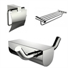 American Imaginations Modern Multi-Rod Towel Rack, Toilet Paper Holder And Robe Hook Accessory Set