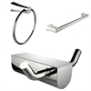 American Imaginations Modern Towel Ring With Single Rod Towel Rack And Robe Hook Accessory Set