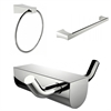 Modern Towel Ring With Single Rod Towel Rack And Robe Hook Accessory Set