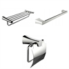 American Imaginations Single And Multi-Rod Towel Racks With Toilet Paper Holder Accessory Set
