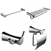 American Imaginations Single And Multi-Rod Towel Rack With Robe Hook And Toilet Paper Holder Accessory Set