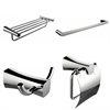 Single And Multi-Rod Towel Rack With Robe Hook And Toilet Paper Holder Accessory Set