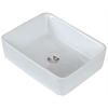 18.75-in. W x 14.75-in. D Above Counter Rectangle Vessel In White Color For Wall Mount Faucet