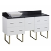 American Imaginations 60-in. W x 18.5-in. D Plywood-Veneer Vanity Set In White
