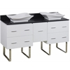 60-in. W x 18.5-in. D Plywood-Veneer Vanity Set In White