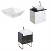 American Imaginations 48-in. W x 18.5-in. D Plywood-Veneer Vanity Set In White