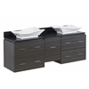 60-in. W x 18.5-in. D Plywood-Melamine Vanity Set In Dawn Grey