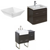 American Imaginations 60-in. W x 18.5-in. D Plywood-Melamine Vanity Set In Dawn Grey