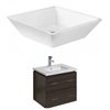 American Imaginations 48-in. W x 18.5-in. D Plywood-Melamine Vanity Set In Dawn Grey