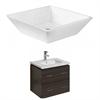 48-in. W x 18.5-in. D Plywood-Melamine Vanity Set In Dawn Grey