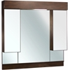 American Imaginations 46-in. W x 46-in. H Transitional Birch Wood-Veneer Wood Mirror In Antique Cherry
