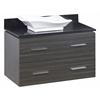 36-in. W x 18.5-in. D Plywood-Melamine Vanity Set In Dawn Grey