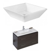 American Imaginations 36-in. W x 18.5-in. D Plywood-Melamine Vanity Set In Dawn Grey