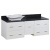 60-in. W x 18.5-in. D Plywood-Veneer Vanity Set In White