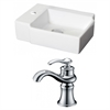 16.25-in. W x 11.75-in. D Rectangle Vessel Set In White Color With Single Hole CUPC Faucet