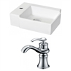 American Imaginations 16.25-in. W x 11.75-in. D Rectangle Vessel Set In White Color With Single Hole CUPC Faucet