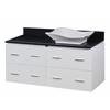 48-in. W x 18.5-in. D Plywood-Veneer Vanity Set In White